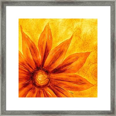 Happy Petals Framed Print
