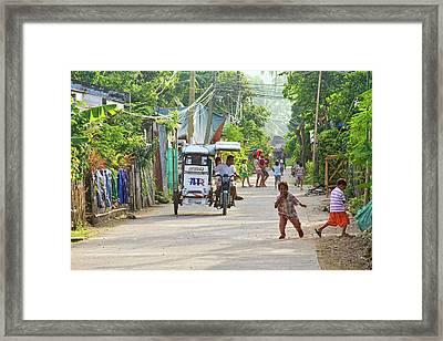 Happy Philippine Street Scene Framed Print by James BO  Insogna