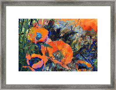Happy Poppies Framed Print by Anne Weirich