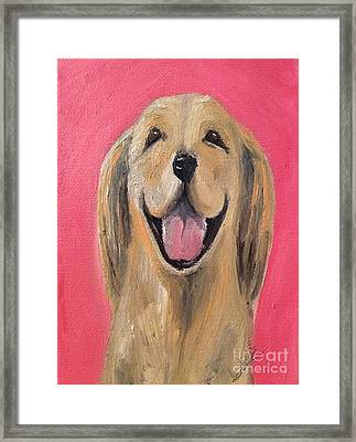 Happy Pup Framed Print