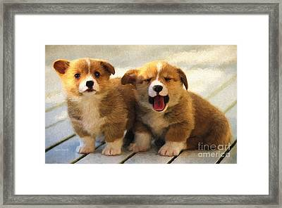 Happy Puppies Framed Print