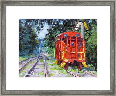Happy Rails Framed Print by L Diane Johnson