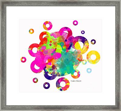 Happy Rings - Digital Art Framed Print by Debbie Portwood