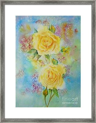 Happy Roses Framed Print