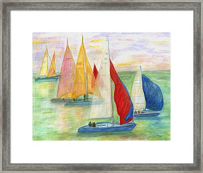 Happy Sailing Framed Print