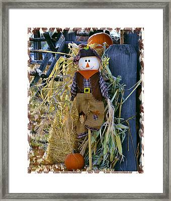 Happy Scarecrow Framed Print by Kae Cheatham