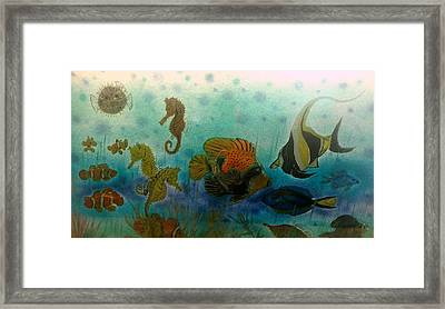 Happy School Of Fish Framed Print by Kirk Wieland