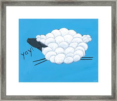Happy Sheep Framed Print by Christy Beckwith