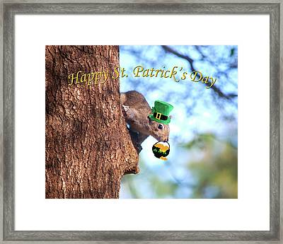 Happy St. Pat's Day Card Framed Print by Adele Moscaritolo