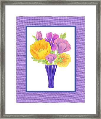 Happy Summer Bouquet Sweet And Purple Framed Print by Irina Sztukowski