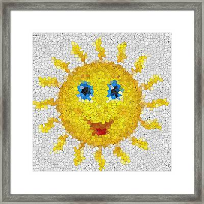 Happy Sun Glass Mosaic Framed Print by Miroslav Nemecek