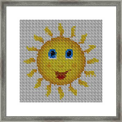 Happy Sun Image Knit Framed Print