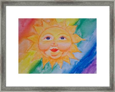Happy Sun Framed Print by Jennifer Hernandez