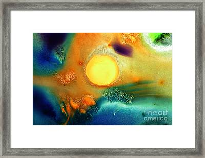 Happy Sunrise Fluid Abstract Art Liquid Painting By Kredart Framed Print