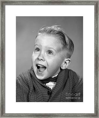 Happy, Surprised Boy, C.1960s Framed Print