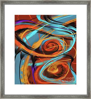 Framed Print featuring the painting Happy by S G