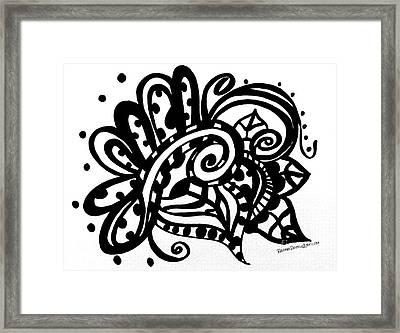 Happy Swirl Doodle Framed Print