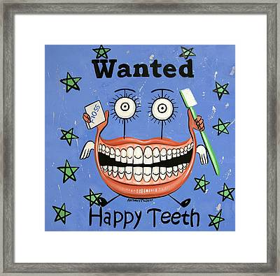 Happy Teeth Framed Print by Anthony Falbo