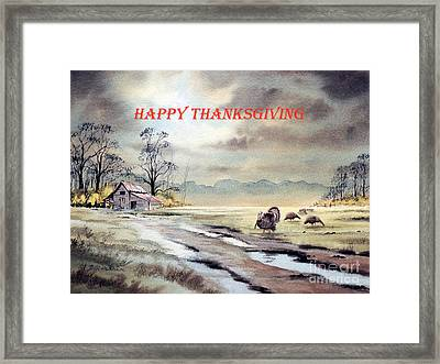 Happy Thanksgiving  Framed Print by Bill Holkham