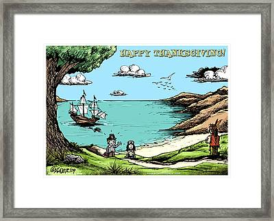 Happy Thanksgiving Framed Print by James Sayer