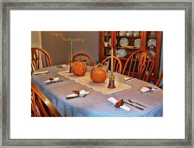 Happy Thanksgiving Framed Print by Joan Bertucci