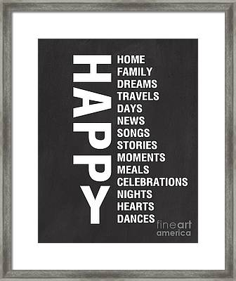 Happy Things Framed Print