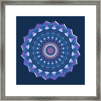 Happy To Be Blue Framed Print