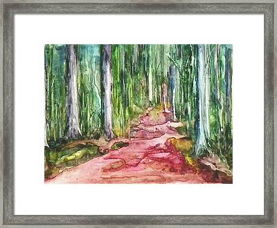 Framed Print featuring the painting Happy Trail by Anna Ruzsan