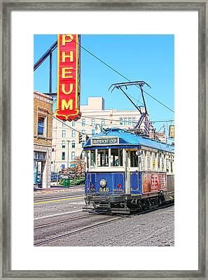 Happy Trolley Framed Print by Suzanne Barber