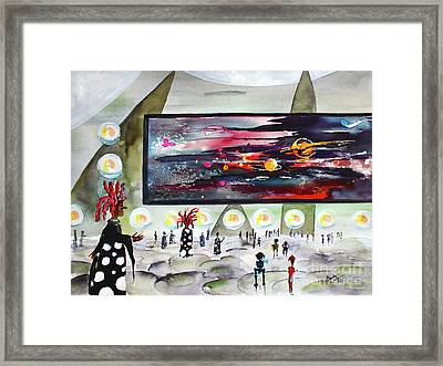Happy Universe Day Travel Log 10 Framed Print