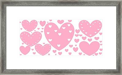 'just Hearts' Framed Print by Linda Velasquez
