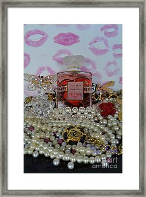 Happy Valentines Day 3 Framed Print by To-Tam Gerwe