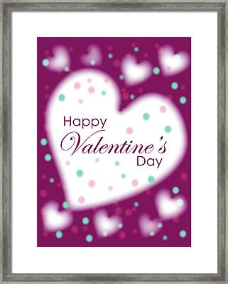 Happy Valentine's Day Framed Print by Hye Ja Billie