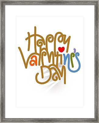 Happy Valentine's Day Poster Framed Print