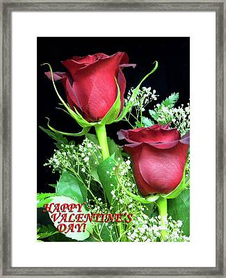 Framed Print featuring the photograph Happy Valentines Day by Sandi OReilly