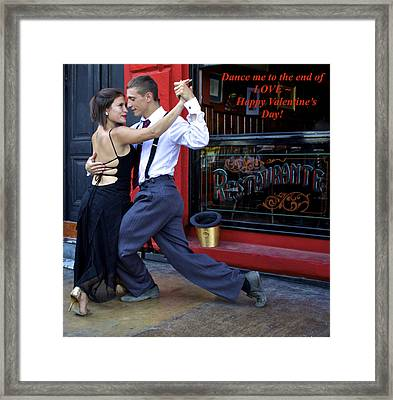 Happy Valentine's Day Framed Print by Venetia Featherstone-Witty