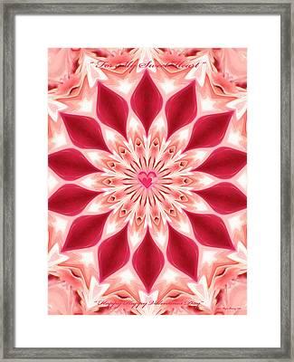Happy Valentines Day Framed Print by Wayne Bonney