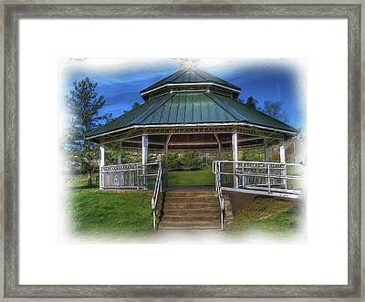 Framed Print featuring the photograph Happy Valley Gazebo Art  by Thom Zehrfeld
