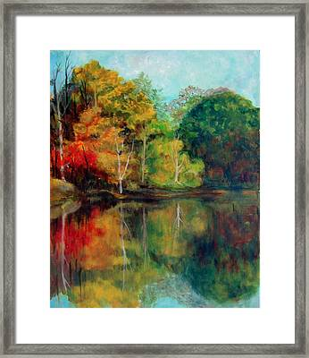 Happy Valley Pond Framed Print by Lyn Vic
