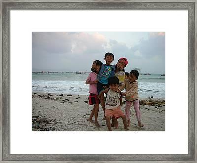 Happy Vietnamese Kids Framed Print