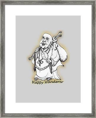 Happy Wanderer Framed Print by James Lewis Hamilton
