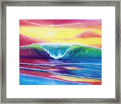 Happy Wave Framed Print
