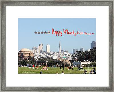 Happy Whacky Holidays Framed Print by Wingsdomain Art and Photography
