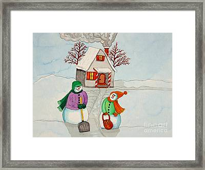Happy Winter Home Framed Print by Norma Appleton
