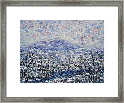 Happy Winter. Framed Print