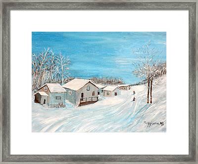 Happy Winter Framed Print by Mauro Beniamino Muggianu