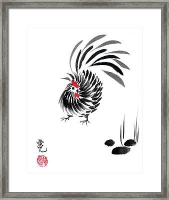 Happy Year Of The Rooster Framed Print