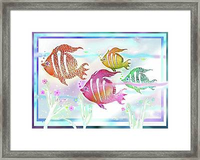 Happiness Is A Clean Ocean  Framed Print