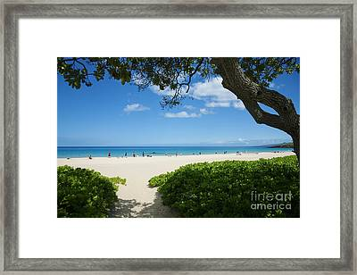Hapuna Beach Framed Print by Ron Dahlquist - Printscapes
