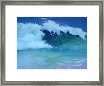 Hapuna Beach Shore Stack Framed Print